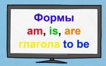Формы глагола to be