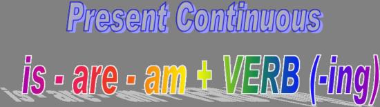 Present continuous правила