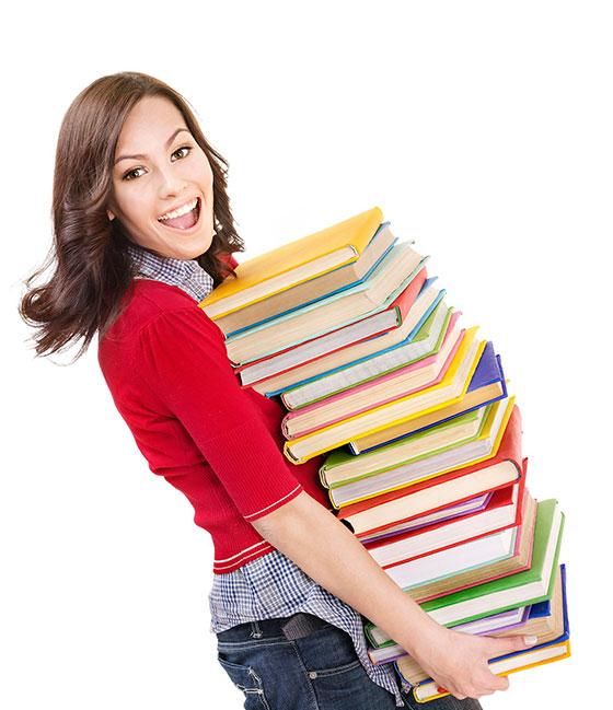 Студентка с книгами