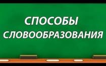 Правила словообразования в английском языке