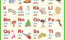Таблица и упражнения по английскому алфавиту с транскрипцией и русским произношением