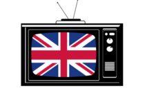 Телевизор с британским флагом